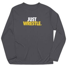 Wrestling Long Sleeve Performance Tee - Just Wrestle