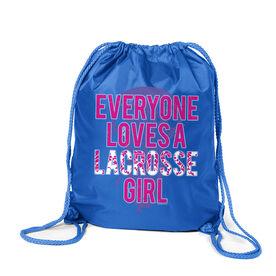 Lacrosse Sport Pack Cinch Sack Everyone Loves A Lacrosse Girl
