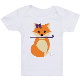 Field Hockey Baby T-Shirt - Field Hockey Fox