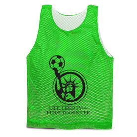 Soccer Pinnie - Life Liberty and the Pursuit of Soccer