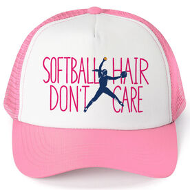 Softball Trucker Hat - Softball Hair Don't Care (Pitcher)