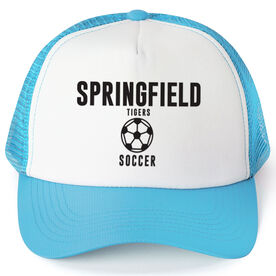 Soccer Trucker Hat - Team Name With Text