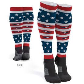 Swimming Printed Knee-High Socks - USA Swim (Female)
