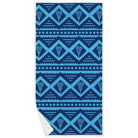 Lacrosse Premium Beach Towel - Geometric Lax Pattern