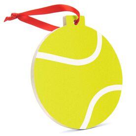Tennis Round Ceramic Ornament - Tennis Ball Graphic