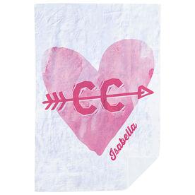 Cross Country Premium Blanket - Watercolor Heart Arrow
