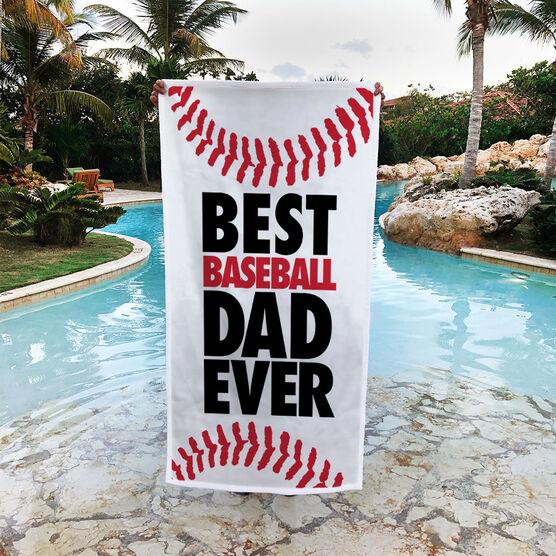 Baseball Premium Beach Towel - Best Dad Ever