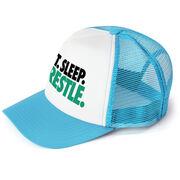 Wrestling Trucker Hat Eat Sleep Wrestle