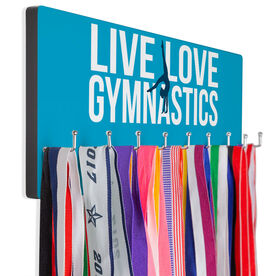 Gymnastics Hooked on Medals Hanger - Live Love Gymnastics