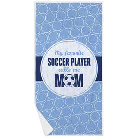 Soccer Premium Beach Towel - My Favorite Player
