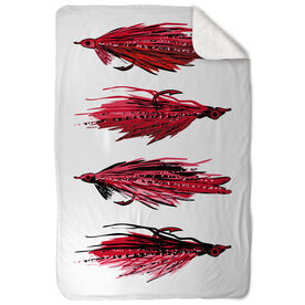 Fly Fishing Sherpa Fleece Blanket - Hook Me Up