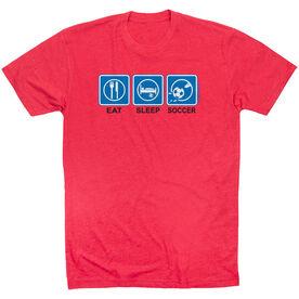 Soccer Tshirt Short Sleeve Eat Sleep Soccer