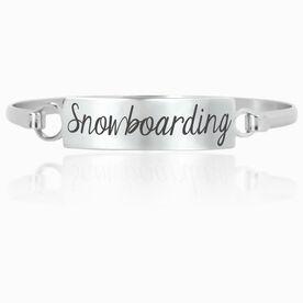 Snowboarding Engraved Clasp Bracelet Snowboarding
