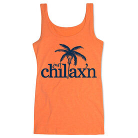 Girls Lacrosse Women's Athletic Tank Top Just Chillax'n