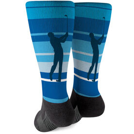 Golf Printed Mid-Calf Socks - Male Golfer