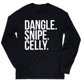 Hockey Tshirt Long Sleeve - Dangle Snipe Celly Words