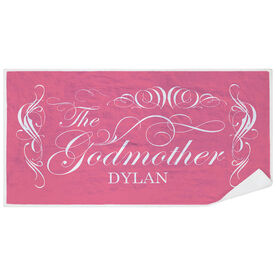 Personalized Premium Beach Towel - The Godmother
