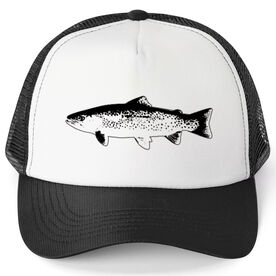 Fly Fishing Trucker Hat - Fish Outline