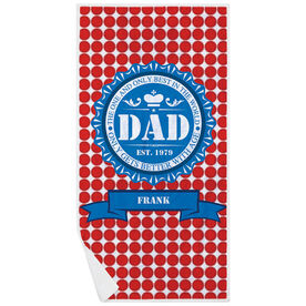 Personalized Premium Beach Towel - Dad Bottle Cap