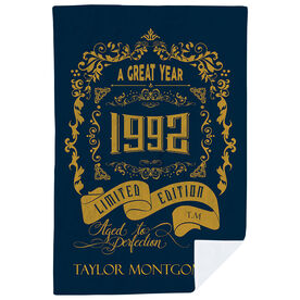 Personalized Premium Blanket - Vintage Wine Label