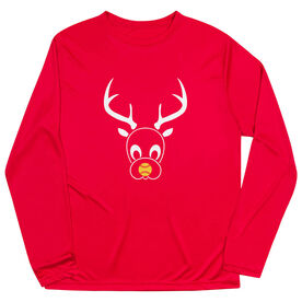 Softball Long Sleeve Performance Tee - Reindeer