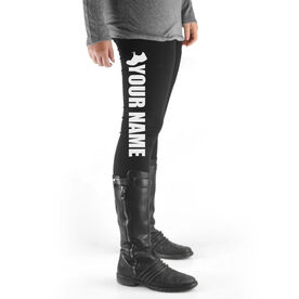 Running High Print Leggings Your Name With Shoe