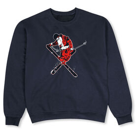 Skiing Crew Neck Sweatshirt - Freestyle Santa