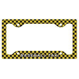 Baseball Taxi License Plate Holder
