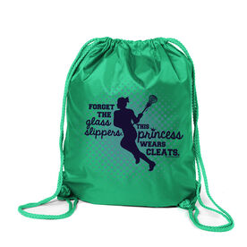 Lacrosse Sport Pack Cinch Sack Forget The Glass Slippers Lacrosse