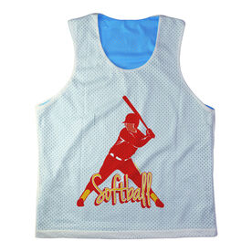 Girls Softball Racerback Pinnie Personalized Softball Batter