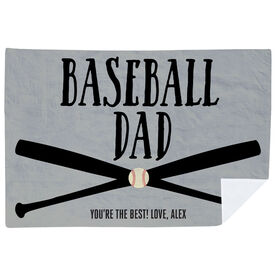 Baseball Premium Blanket - Baseball Dad