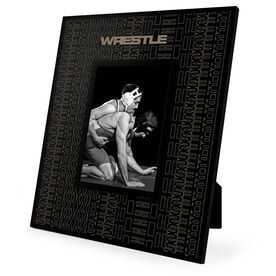 Wrestling Engraved Picture Frame - Repeat Pattern