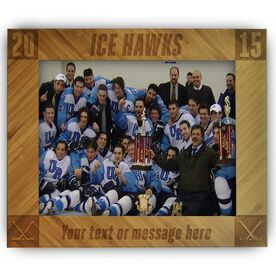 Hockey Bamboo Engraved Picture Frame Team Name