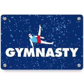 Gymnastics Metal Wall Art Panel - Gymnasty