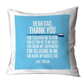 Crew Throw Pillow Dear Dad