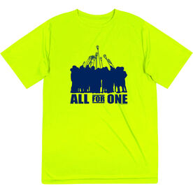 Guys Lacrosse Short Sleeve Performance Tee - All for One (Blue)