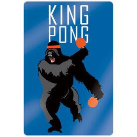 "Ping Pong 18"" X 12"" Aluminum Room Sign - King Pong"