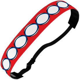 Rugby Julibands No-Slip Headbands - Rugby Ball Pattern
