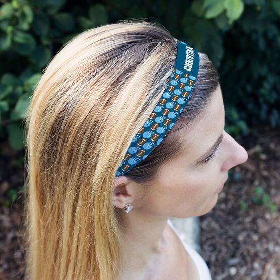 Football Juliband No-Slip Headband - Personalized Football Pattern