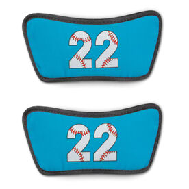 Baseball Repwell™ Sandal Straps - Baseball Number Stitches