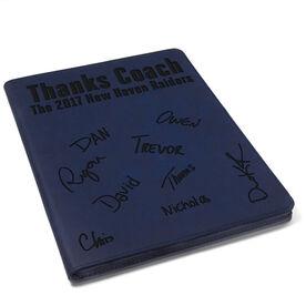 Tennis Executive Portfolio - Thanks Coach with Signatures