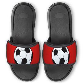 Soccer Repwell™ Slide Sandals - Soccer Ball