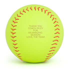 Personalized Engraved Softball - Custom Text