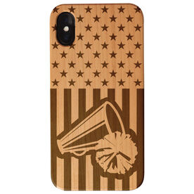 Cheerleading Engraved Wood IPhone® Case - USA Cheer