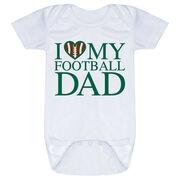 Football Baby One-Piece - I Love My Football Dad