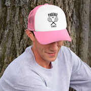 Tennis Trucker Hat - Team Name With Curved Text