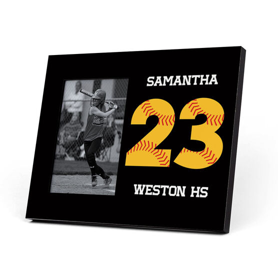 Softball Photo Frame - Number Stitches