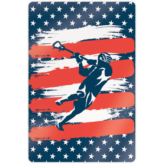 """Guys Lacrosse 18"""" X 12"""" Aluminum Room Sign - USA Laxer"""