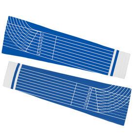 Track & Field Printed Arm Sleeves - Track Lines