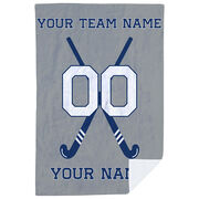 Field Hockey Premium Blanket - Personalized Field Hockey Team With Crossed Sticks